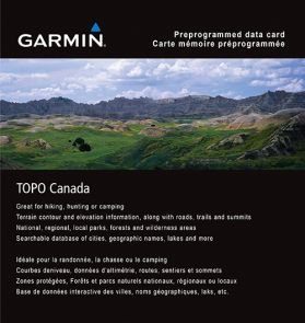 Garmin® TOPO Canada Map Card