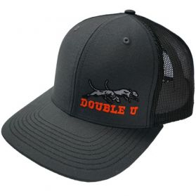 Double U Richardson 112 Charcoal Grey with Black Mesh Cap