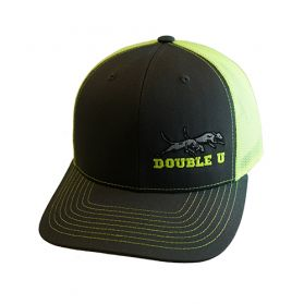 Double U Richardson 112 Grey with Neon Yellow Mesh Cap