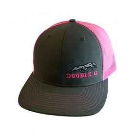 Double U Richardson 112 Grey with Neon Pink Mesh Cap