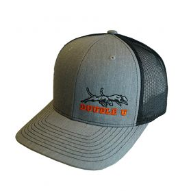 Double U Richardson 112 Heather Grey with Black Mesh Cap
