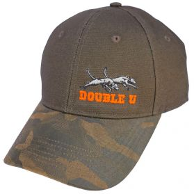 Brown Canvas with Camo Bill Hat