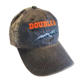 Brown and Camo Waxed front Double U Hat