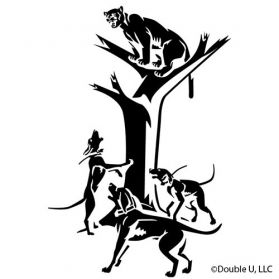 Cougar Treed Decal