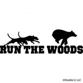 """Run the Woods"" Bear Tailgate Decal"