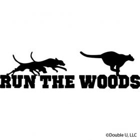 Run The Woods Silhouette Vinyl Decal