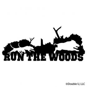 Run The Woods Hog Decal