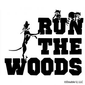 Run The Woods RaccoonVinyl Decal