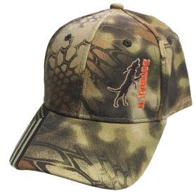 Double U Treed Dog Flag Bill Kryptek Camo Hat
