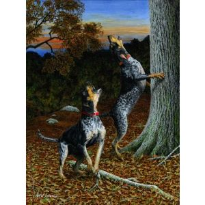 Music to my Ears - Bluetick Hound Print - by Robert W Hickman