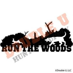 Run the Woods Rabbit Vinyl Decal