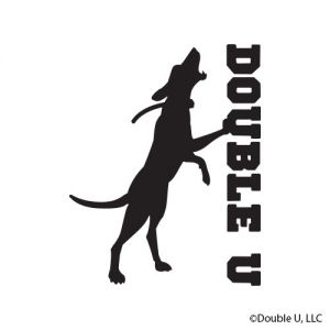 Double U Treeing Dog Decal