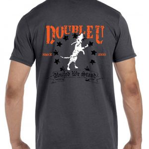 Charcoal Grey Double U United Treeing Dog T-Shirt