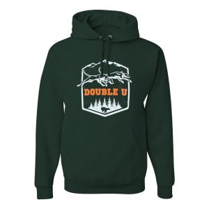 Double U Running Bear Forest Green Sweatshirt