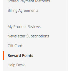 Rewards Points Tab
